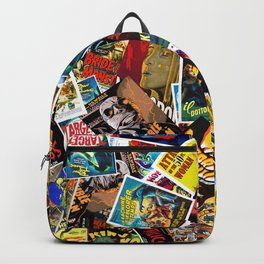 50s Movie Poster Collage #14 Backpack