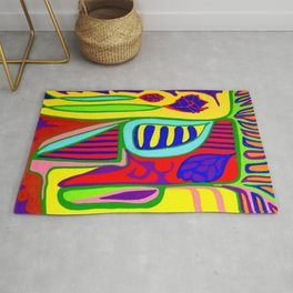 Abstract flower and shapes Rug