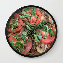 Eat Well for a Happy Life Wall Clock