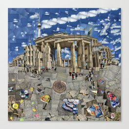 Brandenburg Gate - Photomontage Collage Canvas Print