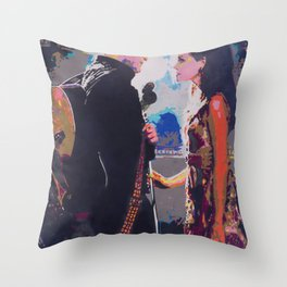 Johnny and June Throw Pillow