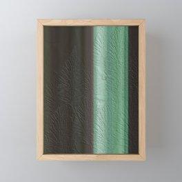 Green Leaf Overlay Framed Mini Art Print