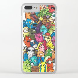 Stacks of Monsters Clear iPhone Case
