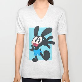 Oswald The Lucky Rabbit Unisex V-Neck