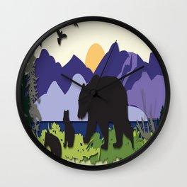 Morning Stroll Wall Clock