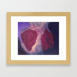 Heavy Heart Framed Art Print