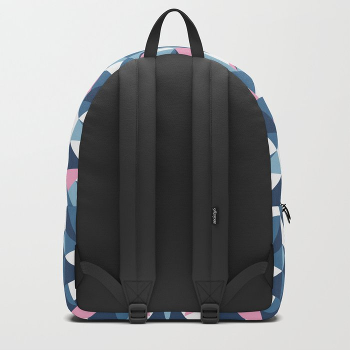 Abstract Collide Blue and Pink Backpack
