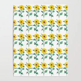 Sunflowers pattern Poster