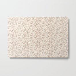 Cavern Clay SW 7701 Abstract Crescent Moon Shape Pattern on Creamy Off White SW7012 Metal Print