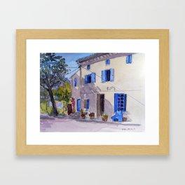 Blue Shutters Framed Art Print