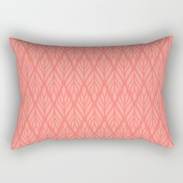 Decorative Leaves in Coral and Pink Rectangular Pillow