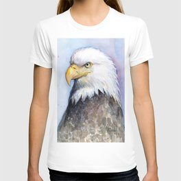 Bald Eagle Watercolor Bird Wildlife Animals T-shirt
