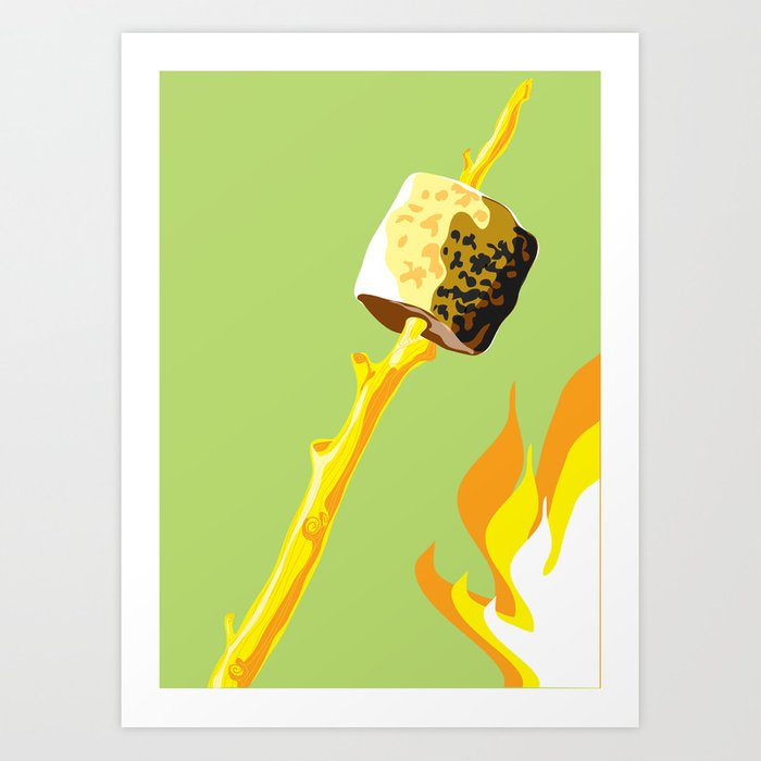 Camping Out - Marshmallow Art Print