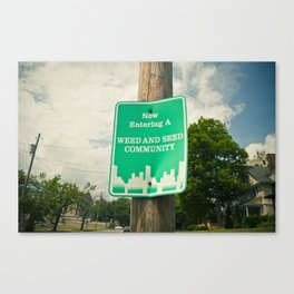 A Weed and Seed Community Canvas Print