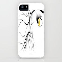 Golden Eyed Girl iPhone Case