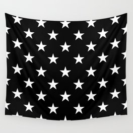 Stars (White/Black) Wall Tapestry