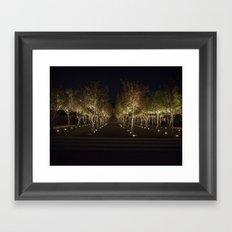 Trees By The Kimbell Framed Art Print