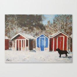 Ystad, Sweden in winter Canvas Print