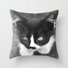 Neko Cat Photography Print Throw Pillow