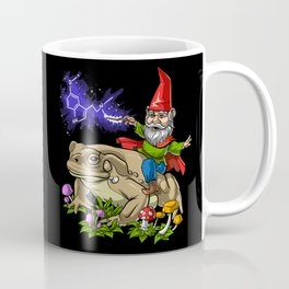 Gnome Riding Psychedelic Toad Coffee Mug