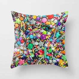 Rainbow Sprinkles - cupcake toppings galore Throw Pillow