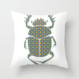 beetle with pattern Throw Pillow