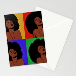 Natural Afro Pop Art Stationery Cards