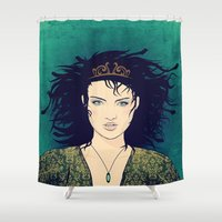 medusa Shower Curtains featuring Medusa by Leanne Phillips
