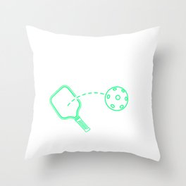 Funny Pickleball Y'all Southern Accent Throw Pillow