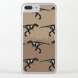 ChocoPaleo: Tyrannosaurus Rex Clear iPhone Case