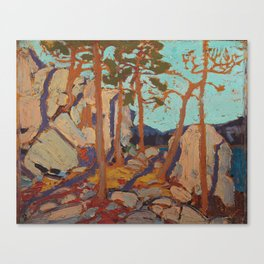 Tom Thomson - Pine Cleft Rocks - Canada, Canadian Oil Painting - Group of Seven Canvas Print