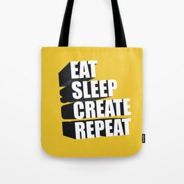 3d Typography Tote Bag
