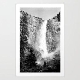Bridal Veil Falls in Yosemite National Park, California Art Print