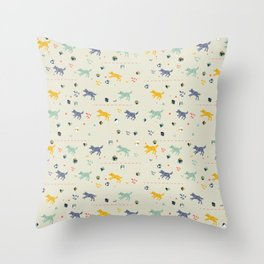 Polyhedral Dice- Wolves Throw Pillow