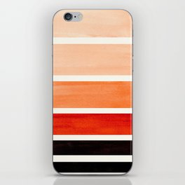 Burnt Sienna Minimalist Mid Century Modern Color Fields Ombre Watercolor Staggered Squares iPhone Skin