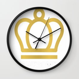 Hamilton Awesome Hat Of King Wow Gold Crown Epic Tee Wall Clock