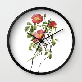 Flower in the Hand II Wall Clock