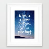neil gaiman Framed Art Prints featuring Neil Gaiman, quotes, inspirational art, beautiful words by Good vibes and coffee