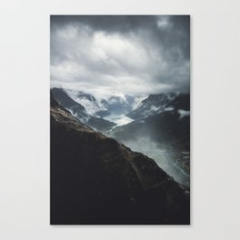 Via Ferrata Climbing in Loen, Norway Canvas Print