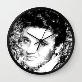 ELVIS (BLACK & WHITE VERSION) Wall Clock