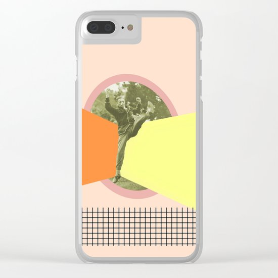 JUMPING AROUND Clear iPhone Case