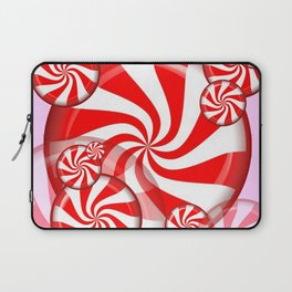 RED PEPPERMINT CHRISTMAS HOLIDAY CANDY Laptop Sleeve