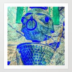 2 faced Art Print