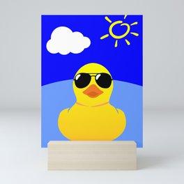 Cool Rubber Duck Yellow Mini Art Print