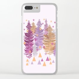 Christmas Trees #buyart #Christmas #Society6 Clear iPhone Case