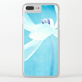 blue line Clear iPhone Case