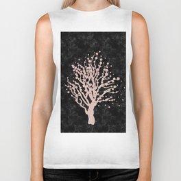 Cherry blossom tree rose gold Biker Tank