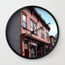"On Greene Street - The ""Main Drag"" of Silverton, No. 1 of 3 Wall Clock"