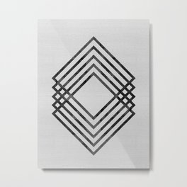 Watercolor of squares Metal Print