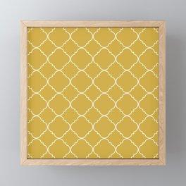 Yellow Moroccan Framed Mini Art Print